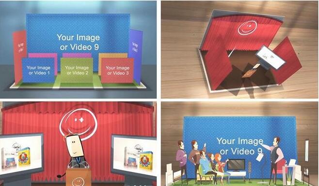 [AE模板] 创新逼真3D人物动画情景故事立体手