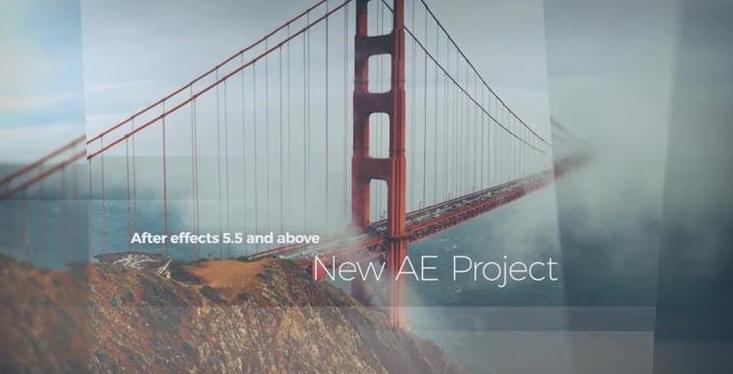 [AE立体]唯美视频分层透明遮罩片头展示模板做优酷模板用图片