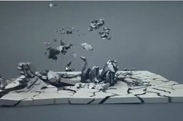 HOUDINI制作地面变形破碎效果