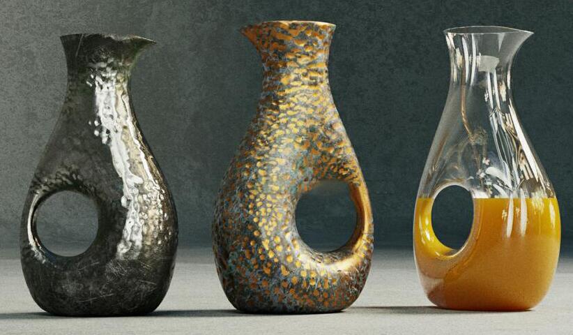 玻璃器皿渲染第四季-多种材质