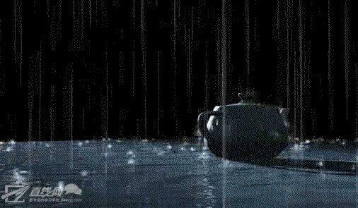 pf粒子制作雨水滴落的效果