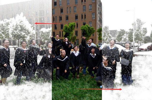 PS教你如何快速拍攝雪景畢業照片