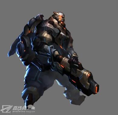 游戏角色盔甲战士绘画