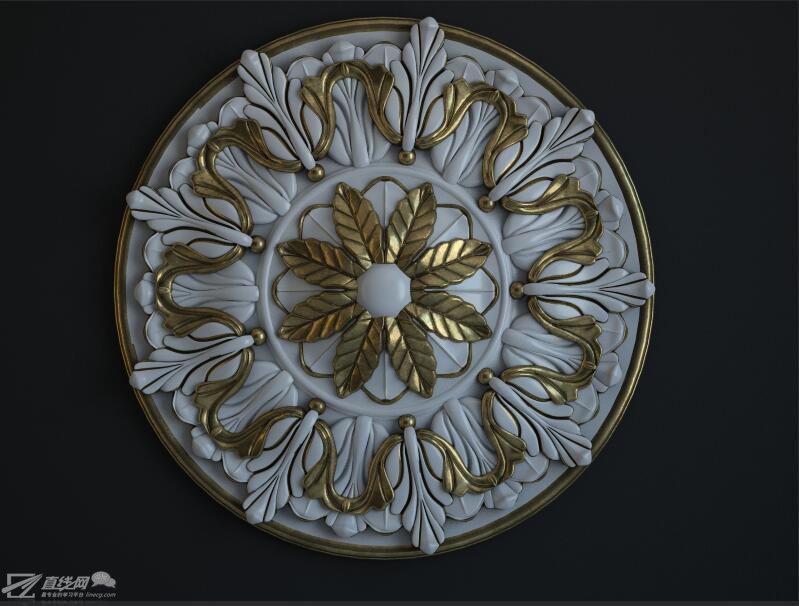 写实金属材质制作-雕花材质调制作