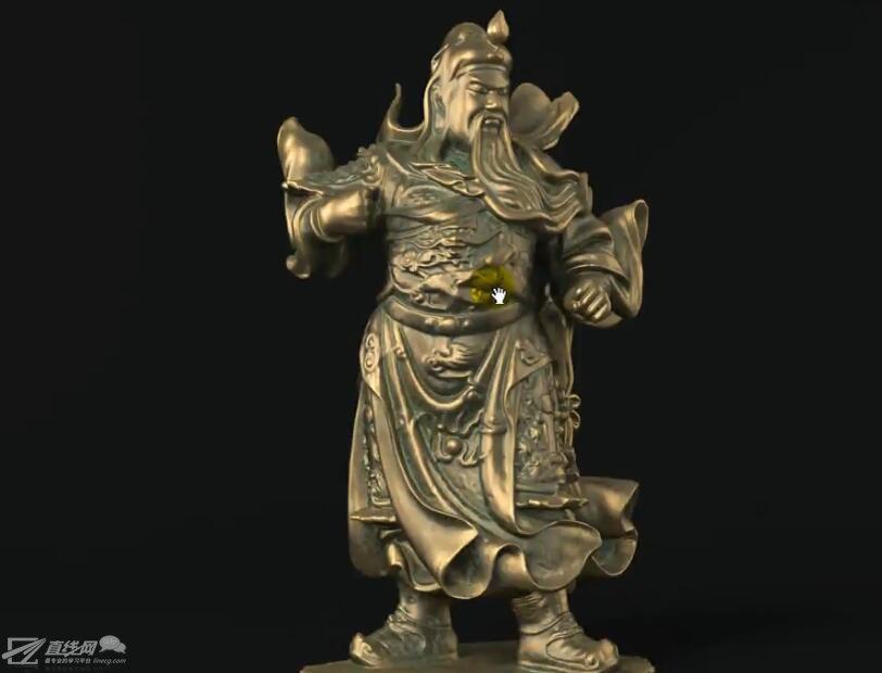 产品渲染-做旧雕塑材质