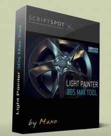 3ds Max 灯光绘制脚本插件Light Painter 1.0 for 3Ds Max