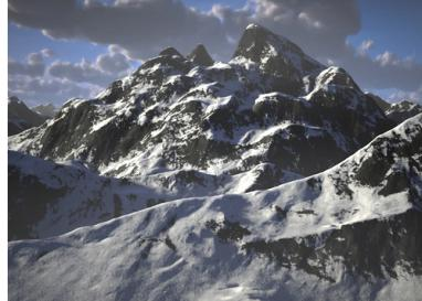 C4Depot Infinite Mountains & Real Sky Studio for Cinema 4D