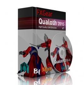 Qualoth布料模拟动画Maya插件2015V1版 FXGear Qualoth 2015 v1 For Maya x64 Win