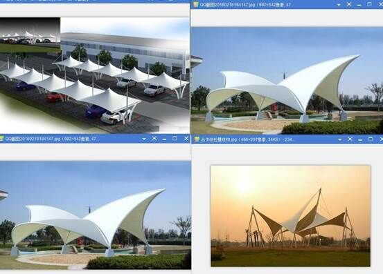 3DMAX建筑膜结构模型制作