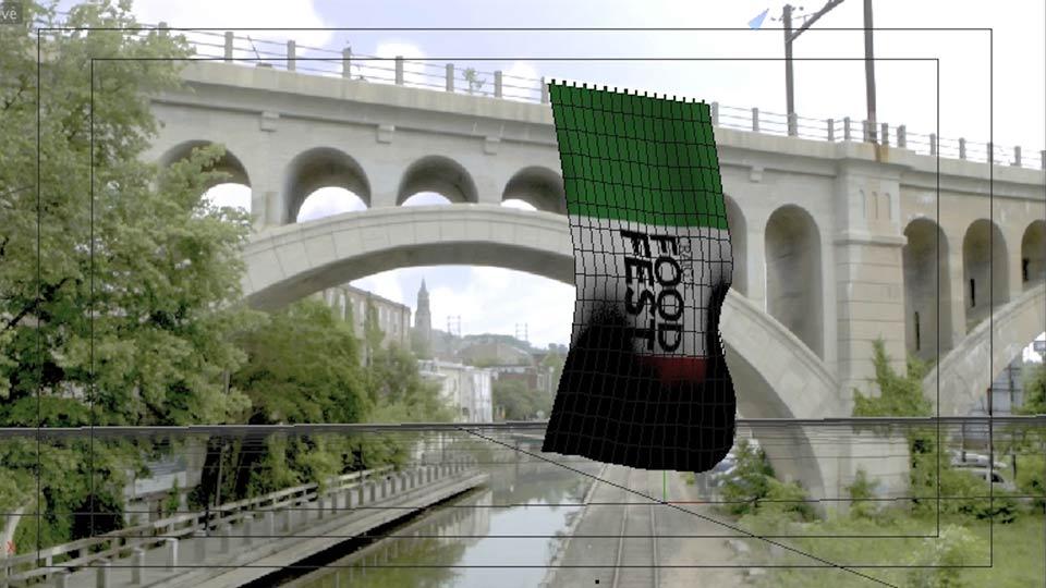 双语字幕C4D布料制作飘动CG广告旗帜教程特效合成跟踪