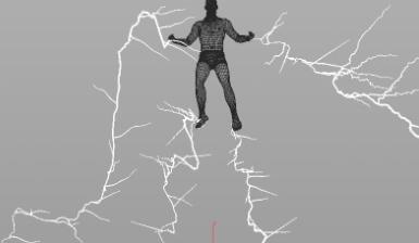 HOUDINI特效教程,影视特效,HOUDINI16闪电人制作