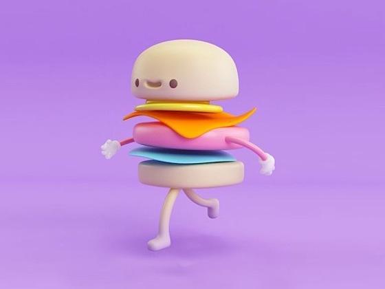 C4D骨骼绑定教程:会跑步的汉堡,萌呆了