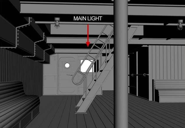 3dsmax渲染船体内部的光影效果