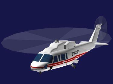 常规军用直升飞机3d模型-人物模型,游戏模型, 动物