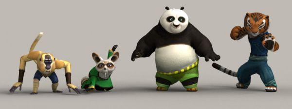功夫熊猫全套模型-人物模型