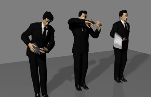 酒店服务生-人物模型,游戏模型