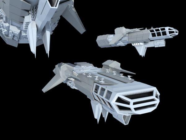 太空飞船-人物模型,游戏模型, 动物插件, 模型下载尽