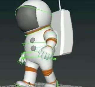 maya卡通宇航员走路动画制作