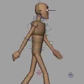 ps建筑人物素材走路