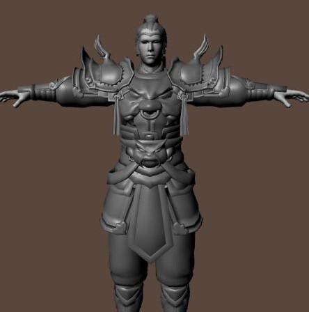 古代战士-人物模型,游戏模型