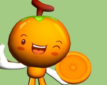 [模型] 卡通橙子