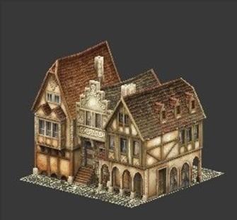 欧洲中世纪房屋图片