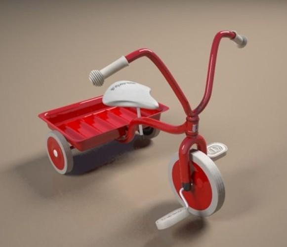 儿童小三轮车模型下载