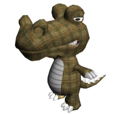 卡通恐龙-人物模型,游戏模型, 动物插件, 模型下载尽