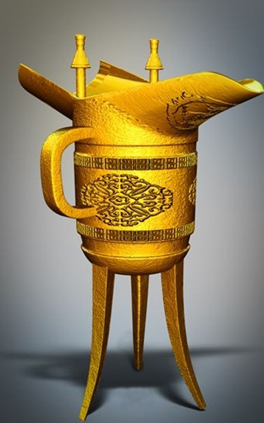 古代酒杯-人物模型,游戏模型