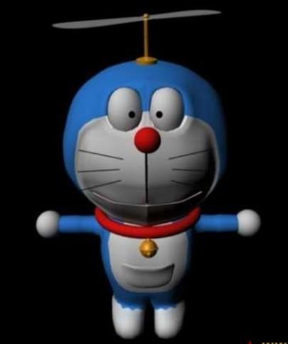 机器猫带绑定-人物模型