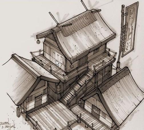 maya欧式古建筑模型