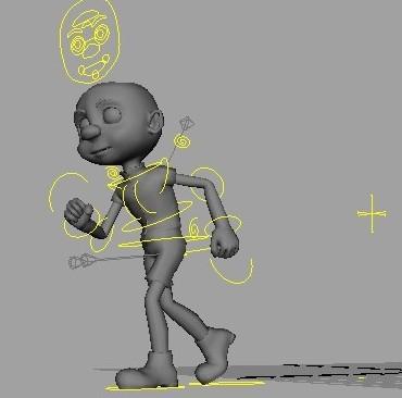 动画角色设定 小男孩 绑定 动画-人物模型,游戏模型