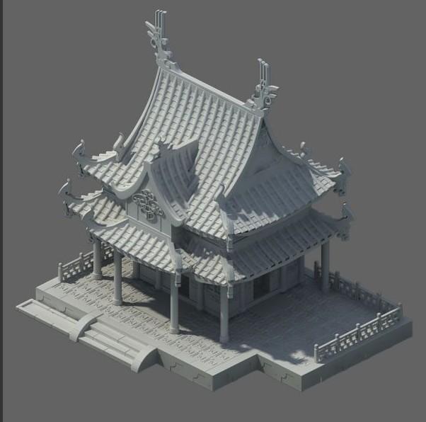 筷子建筑模型步骤