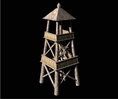 哨塔-人物模型,游戏模型, 动物插件, 模型下载尽在