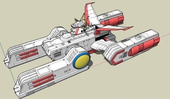 高达战舰-人物模型,游戏模型