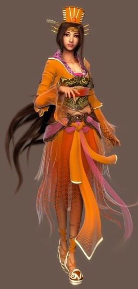 古代女性-人物模型,游戏模型
