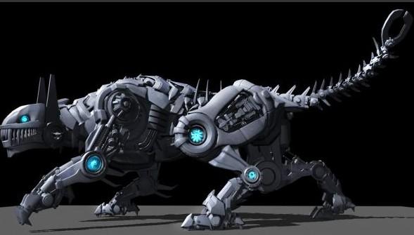 机械虎-人物模型,游戏模型, 动物插件, 模型下载尽在
