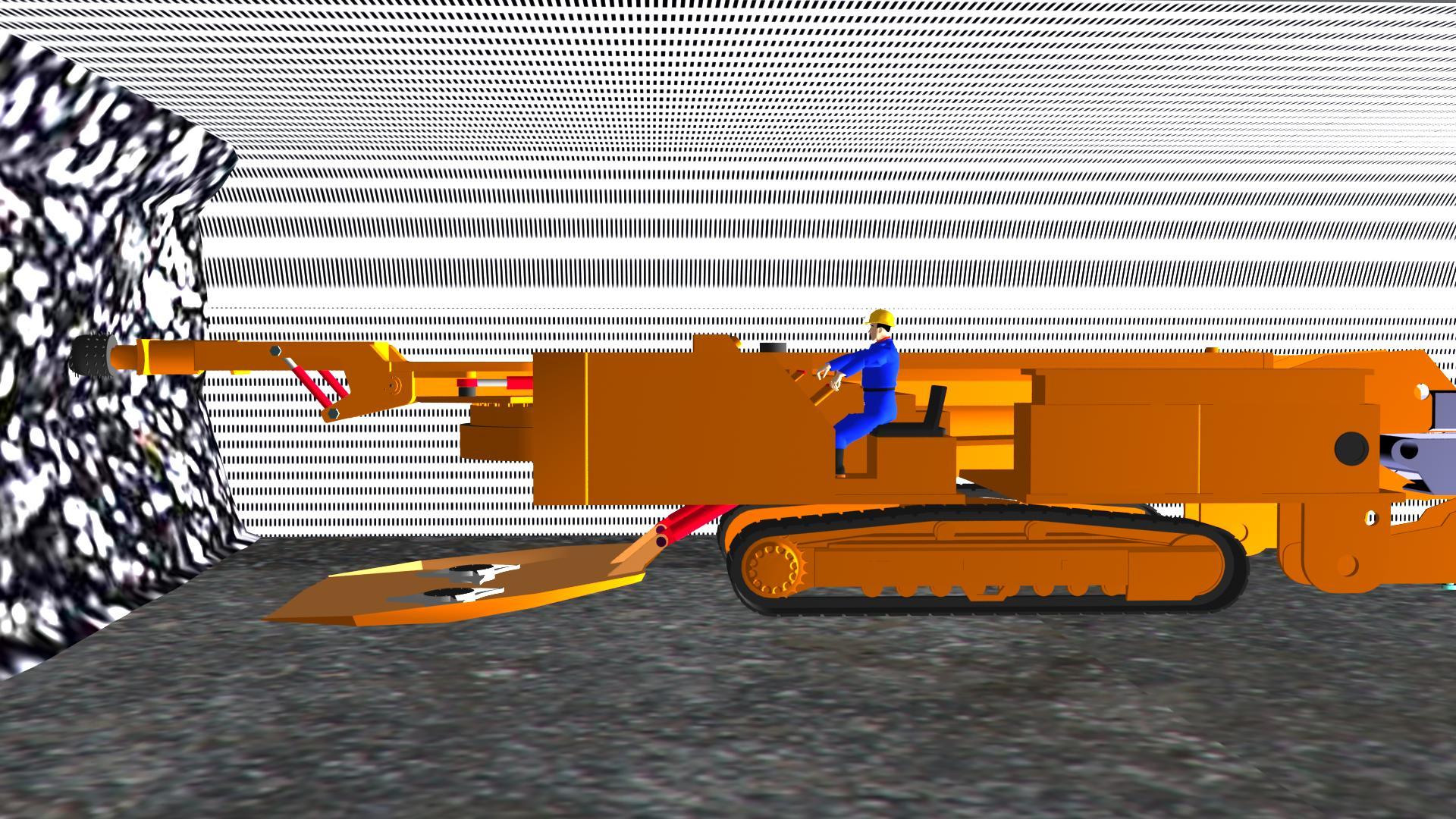 掘进机采煤3维动画演示