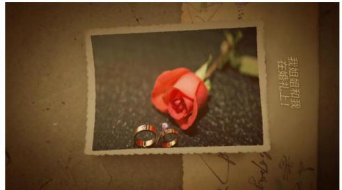 ae模板 浪漫复古滤镜拍立得照片婚礼回忆相册模板 ae素材