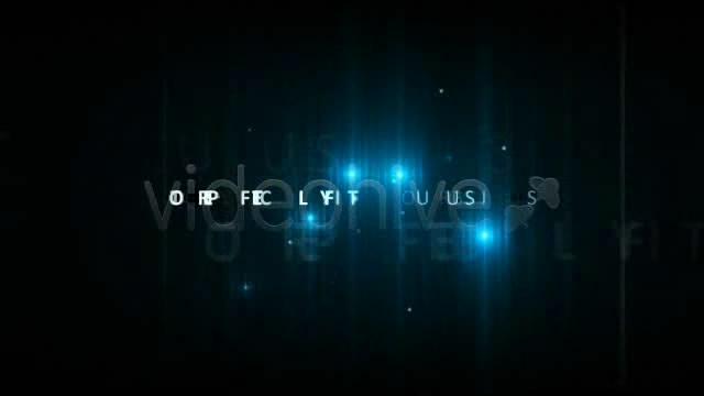 [ae模板] 蓝色荧光背景