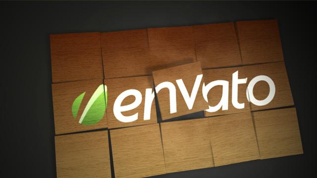 木板拼接logo