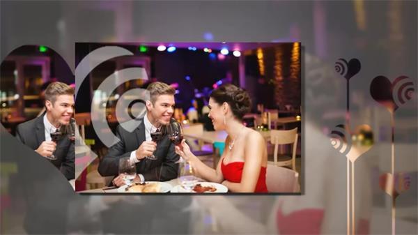 婚礼以及爱情等浪漫主题的相册,幻灯片展示的ae模板.