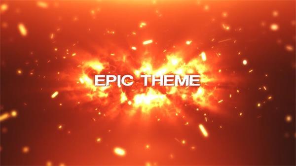 ae模板 火焰粒子飘浮汇聚渲染标题字幕特效 ae素材