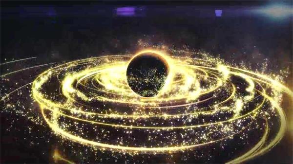ae模板 震撼大气星空粒子流线环绕星球旋转logo展示模板 ae素材