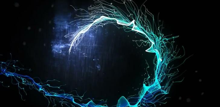 蓝色科技光线logo标志