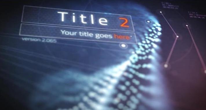 [ae模板] 高科技科幻飘浮粒子耀斑字幕标题logo展示模板