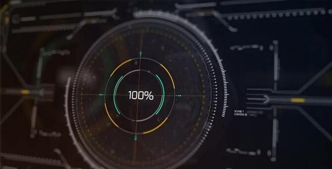 [ae模板] 高新科技精密计量线条变化智能渲染显示片头模板