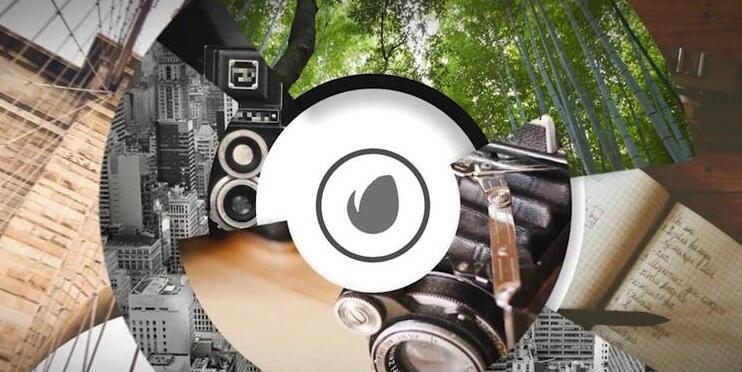 [ae模板] 创新圆形旋转交错层叠遮罩渲染相册企业标志片头模板