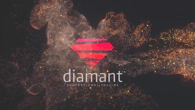 [ae模板] 大气淡雅火花喷射粒子烟雾完美展示企业logo模板