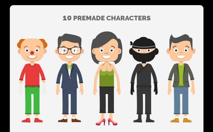时尚趣味卡通人物动画表情
